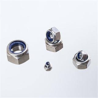 Stainless Steel Nylon Locknut 304 316 Stainless Steel Din985 Standard