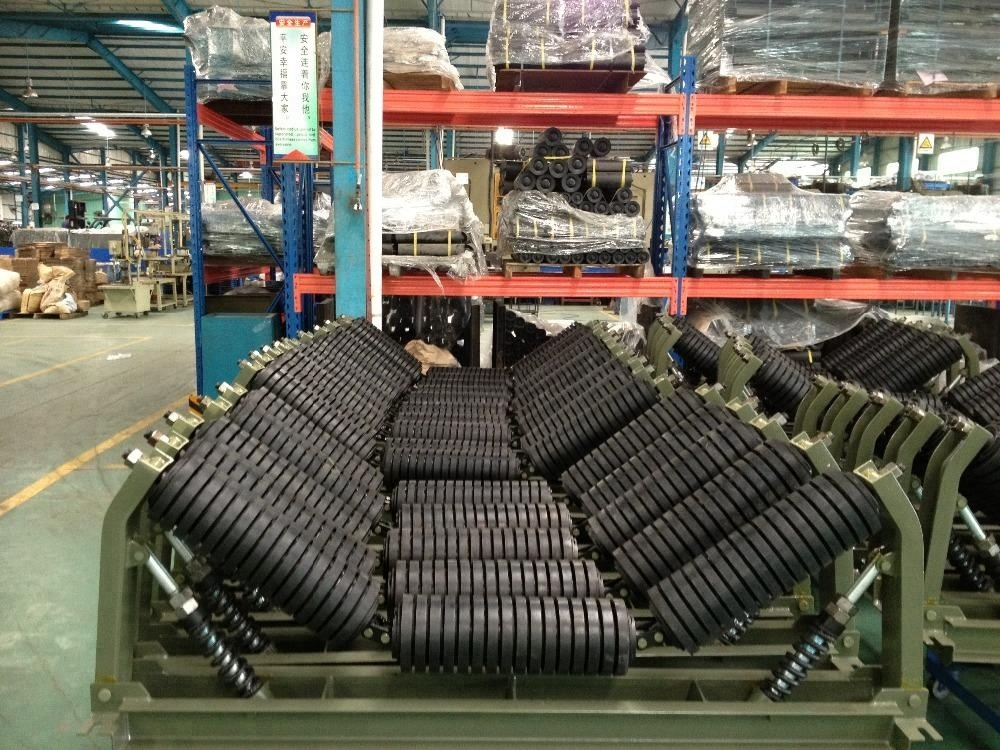 Rubber Ring Coated Impact Idler Roller for Belt Conveyor