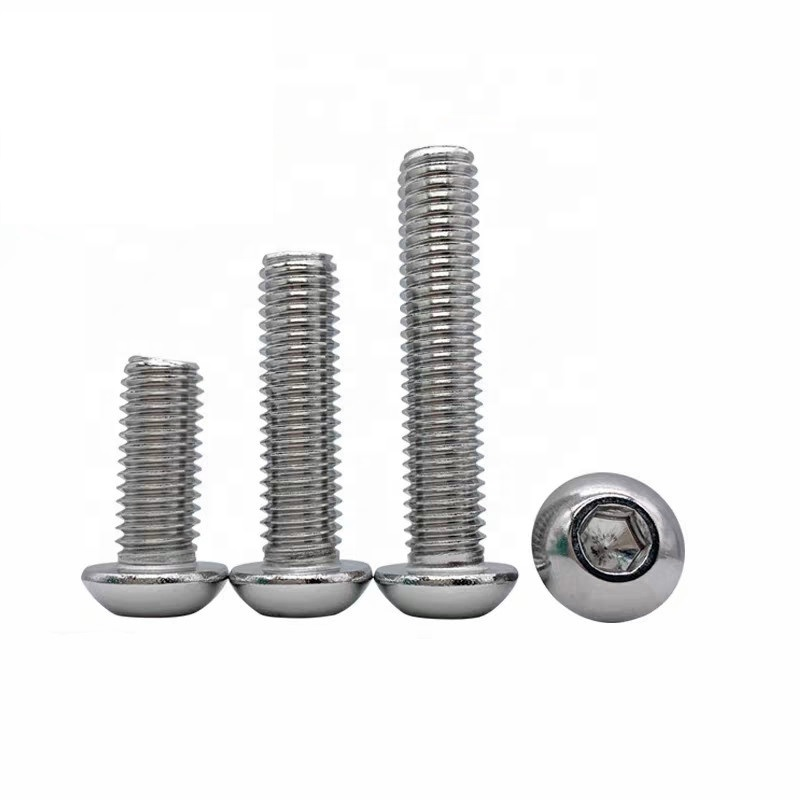 SUS304 DIN 7380 Half Round Head Socket Hexagon Bolt Stainless Steel Screw