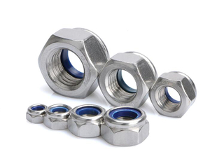 A2 Nylon Insert Lock Nut Stainless Steel Nylon Locknut M3 M4 M5